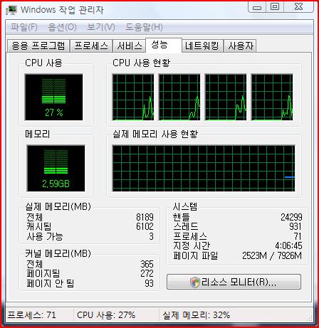 Windows Vista 작업관리자