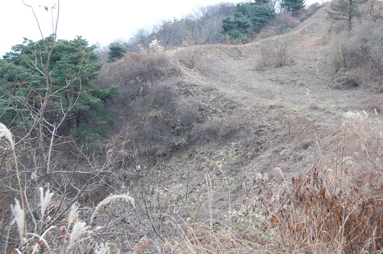 성흥산성 성벽의 일부