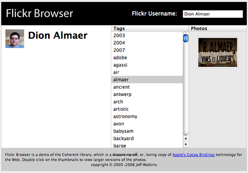Flickr Browser