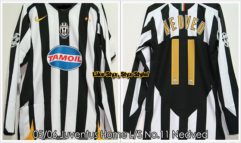 05/06 Juventus Home L/S No.11 Nedved UCL Panel ver. - Match Issued