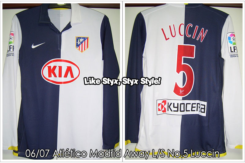 06/07 Atlético Madrid Away L/S No.5 Luccin