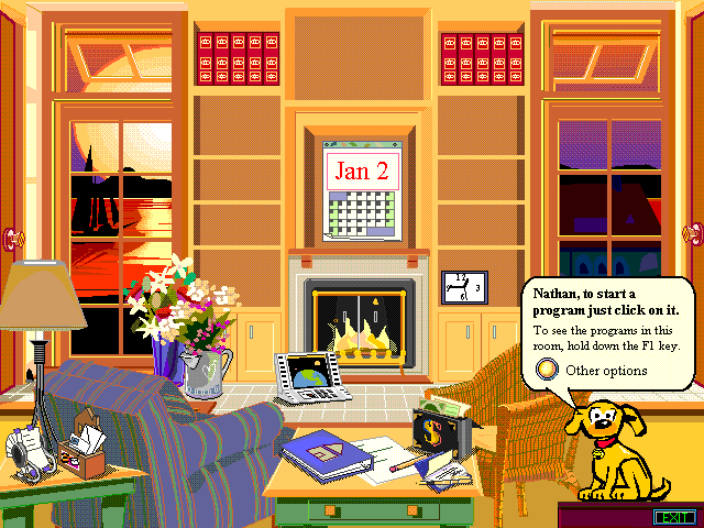 Home Screen of Microsoft Bob