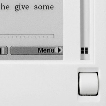 Close up of Kindle Cursor bar