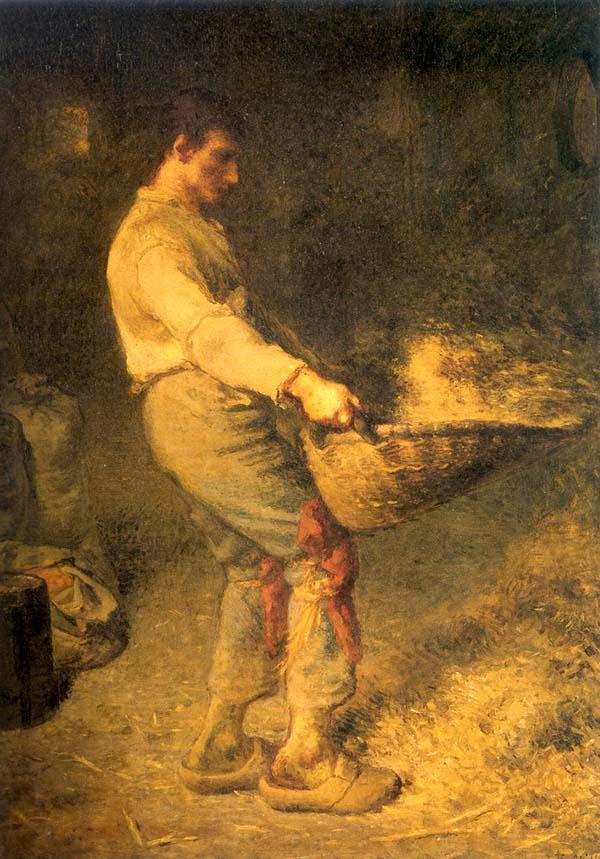 <Jean-Francois Millet, Un Vanneur, 1866-1868, 79.5x58.5cm, Huile sur bois>