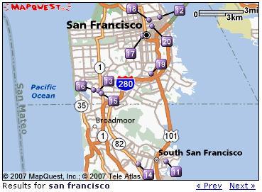 맵퀘스트(MapQuest) 지도